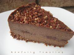 "RECIPE - Chocolate Almond Fudge ""Cheesecake"" - Gluten Free - Raw Vegan by RawfullyTempting on Etsy"
