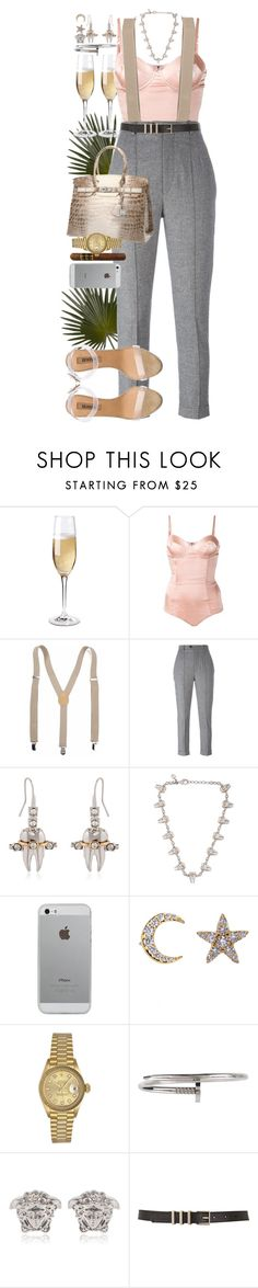 """""""I've never fooled anyone. I've let people fool themselves. They didn't bother to find out who and what I was. Instead they would invent a character for me. I wouldn't argue with them. They were obviously loving somebody I wasn't."""" by quiche ❤ liked on Polyvore featuring Wine Enthusiast, Fleur du Mal, Isabel Marant, Schield Collection, Luvvitt, Khai Khai, Hermès, Rolex, Armitage Avenue and Versace"""