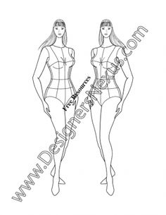 027- plus size female fashion croqui full-figure model 3/4 pose - FREE download and more croquis in Illustrator & .png at designersnexus.com!