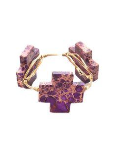 Bourbon & Bowties Large Purple Cross Bangle – DejaVu