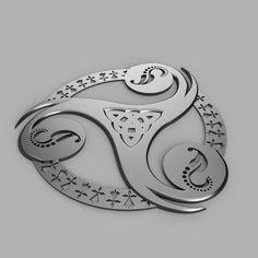 3D printed Triskel breton, francknos