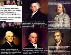 America was NOT founded on Christianity.  Man that annoys the crap out of me when people say that