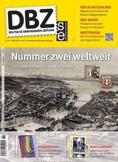 Nummer zwei weltweit 📯 175 Jahre Postwertzeichen in der Schweiz 🏤 DBZ Deutsche Briefmarken-Zeitung gibt's als #epaper:  #briefmarke #Stamps #stamp #philately