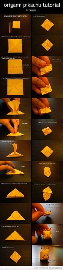 Origami Pickachu. Happy Back-To-School to Trisha!