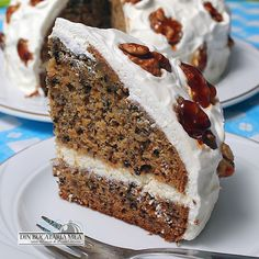 Cake with cream cheese and whipped cream Different Cakes, Cake With Cream Cheese, Food Cakes, Whipped Cream, Vanilla Cake, Banana Bread, Cake Recipes, Desserts, Romani