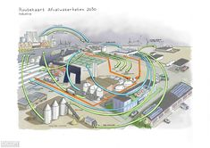 This project is a visual exploration of the Dutch waste water sector in 2030. It takes a closer look at the role of waste water processing facilities for the provision of clean water, renewable energy, and valuable material inputs for society of the future. The vision for 2030 concerns the role of waste water management in four major parts of society: the built environment, agriculture, industry, and natural lands.