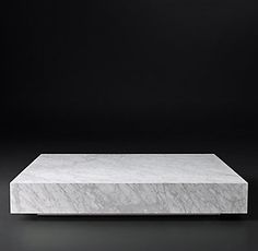 Restoration Hardware Modern - LOW MARBLE PLINTH SQUARE COFFEE TABLE