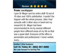 I give Dr Meger and his entire staff 10 out of 10 stars and 100% satisfaction. I couldn't... #testimonials