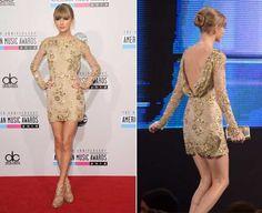 Taylor Swift: manga comprida e decote sexy nas costas (Foto: Getty Images)