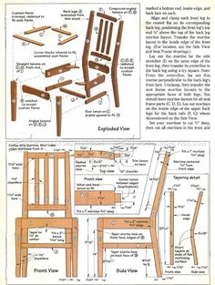#587 Contemporary Dining Chair Plans - Furniture Plans and Projects