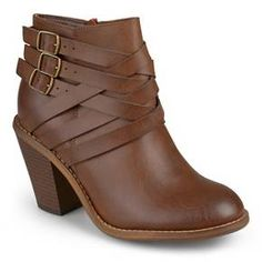Women's Journee Collection Multi Strap Ankle Boots : Target