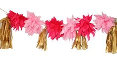 Decorative Flower Garland - Home Decor & Crafting Flower Garlands, Flower Decorations, Paper Ribbon, Crepe Paper, Decor Crafts, Home Decor, Merry Widow, Crafting, Wreaths