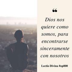 Dios nos quiere como somos, para encontrarse sinceramente con nosotros #LectioDivina #op800 http://www.op.org/es/lectio/2016-12-02