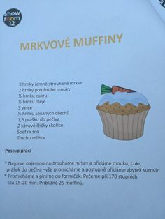 Mrkvove muffiny Cupcakes, Fit, Desserts, Tailgate Desserts, Cupcake Cakes, Deserts, Shape, Postres, Dessert