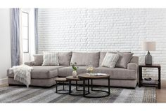 Lodge Fog 2 Piece Sectional With Left Arm Facing Oversized Chaise Simple Living Room, Living Room Sets, Living Room Decor, Living Spaces, Bedroom Decor, 2 Piece Sectional Sofa, Palmer House, Living Furniture, Room Colors
