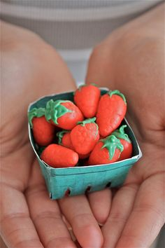 Marzipan Strawberries