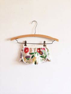 Flower garden boho lace trimmed infant and toddler shorts