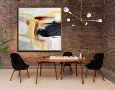 Large contemporary painting canvas art, hand painted oversized Palette Knife Painting abstract Art, large square canvas art. Grey, beige, yellow, brown, blue, red, etc.
