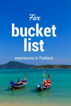 Thailand is a destination gaining more popularity, and there are plenty of reasons why! With new airlines flying in, tickets are cheaper than ever before. Book a flight and then plan your trip with this guide to the best bucket list experiences in Thailand.