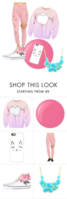 """""""MissBoss"""" by missboss146 ❤ liked on Polyvore featuring Essie, Casetify, Converse and Emi Jewellery"""