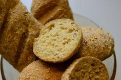 Madgudinden: Grove Glutenfrie Boller med rismel, hirsemel, majsmel, sesamfrø/solsikkekerner og FiberHUSK (8 stk/1 brød)