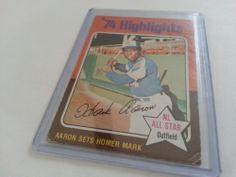 1975 Topps Hank Aaron baseball card Hank Aaron, Baseball Cards, Ebay