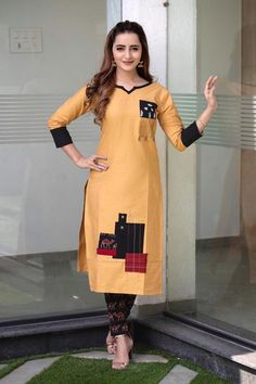On Booking Buy Siyaji yukti stylish cotton kurti with pants cataligue surat wholesaler best price at Wholesale Price. INR 6800 pcs Cotton Latest catalog Yukti vol 1 Simple Kurti Designs, New Kurti Designs, Churidar Designs, Set Saree, Saree Dress, Kurti Collection, Designer Collection, Kurti Styles, Indian Kurta