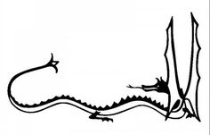 original Smaug the dragon drawing from the hobbit jrr tolkien...  Tattoo?...