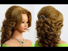 Prom wedding updo. Romantic hairstyle for long medium hair - YouTube