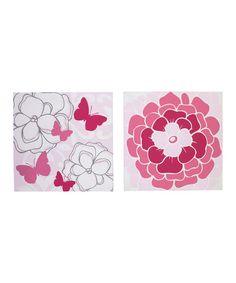Look at this #zulilyfind! Two-Piece Butterfly Bouquet Wall Décor #zulilyfinds