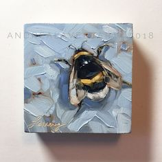 painting, Original impressionistic oil painting, on cradled panel, bee art, bees Bee Painting, Painting & Drawing, Oil Painting Flowers, Painting Lessons, Painting Prints, Mini Paintings, Animal Paintings, Indian Paintings, Painting Inspiration