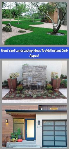 The front yard is typically the first thing that people see when they visit a home, and its appearance sets the tone for the rest of the house. While backyards Small Front Yard Landscaping, Landscaping Ideas, Types Of Soil, Types Of Plants, Concrete Path, Invasive Plants, Small Ponds, Green Lawn, Lush Green