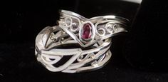 Sailor Moon and Tuxedo Mask rings by TheRiceHatSamurai