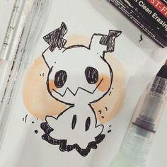 I need a plush i need a Tee i need mimikyu printed on everything Kawaii Drawings, Cute Drawings, Animal Drawings, Cute Art Styles, Cute Pokemon, Ghost Pokemon, Little Doodles, Kawaii Art, Cartoon Art