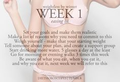 weightless by winter: week 1