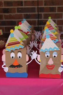 Mr. & Mrs. Potato Head Party Favor Bags/Perfect to go with Toy Story Party