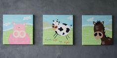 farm animal nursery decor | Farm Animals Kids Nursery Decor Cow Decor, Kids Decor, Wall Decor, Nursery Room, Nursery Decor, Nursery Ideas, Baby Room, Nursery Neutral, Neutral Nurseries