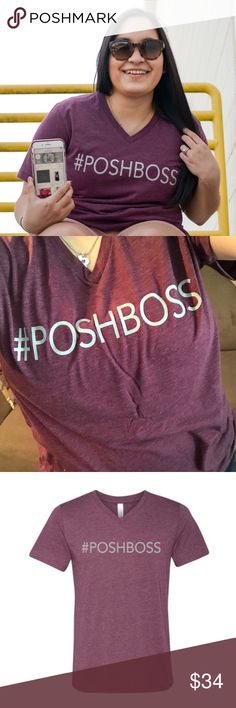 #POSHBOSS Top I basically live in this top! It's super soft and comfy!!! It's unisex sizing, so go down if you want a tight fit. No trades. Purchase this top and the posh socks for a special price  Kyoot Klothing Tops
