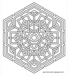 Coloring Page, Celtic Snowflake from geometrycoloringpages.com