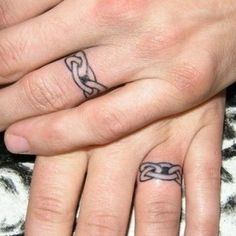 Marriage Tattoos for Couples | cool wedding ring tattoo designs