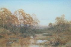 Henry John Sylvester Stannard (1870-1951). The Haunt of the Moorhen, watercolour, signed, 24cm x