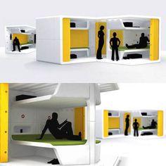 Life3: Unidad de vivienda temporal. Diseñada por Tamer Nakisci