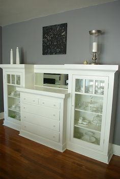 Built In Buffet: Must plan out and build something like this (of course the link doesn't work).