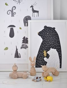 Bear Print - Woodland Inspired Poster More