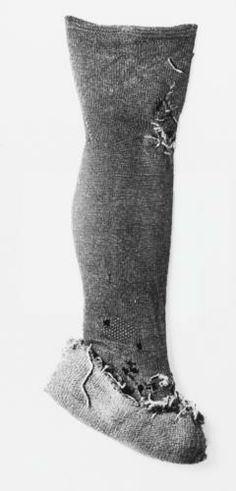 Gunnister stocking, 1690s Shetland isles, Museum of Scotland