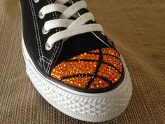 Basketball Swarovski Blinged Converse by TeamMomBling on Etsy Basketball Mom, Basketball Quotes, Basketball Players, Softball, Basketball Birthday, Basketball Outfits, Basketball Crafts, Basketball Scoreboard, Basketball Pictures
