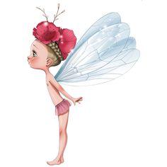 Sticker Petite fée Célestine pour la décoration d'une chambre de fille