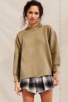 Urban Renewal Recycled Over-Dyed French Military Sweatshirt - Urban Outfitters