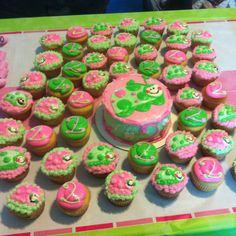 Lady Bug Cake and Cupcakes