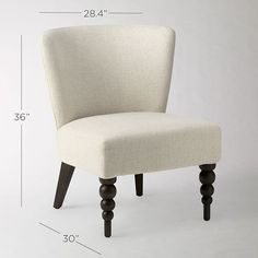 Veronica Turned Leg Chair - Solids | west elm